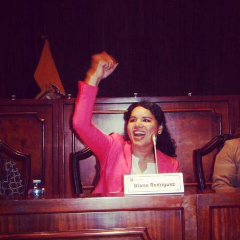 Diane Marie Rodriguez Zambrano transgenero en la Asamblea del Ecuador