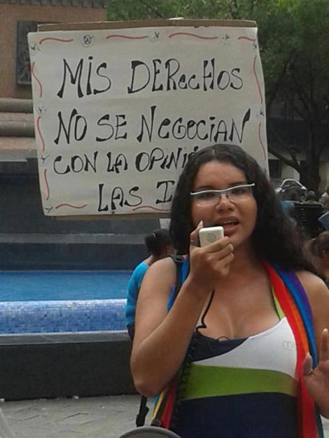 Diane Rodríguez activista transexual transgénero y representante LGBTI Ecuador