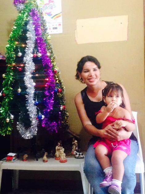 Diane Rodríguez en agasajo a niños que viven con VIH