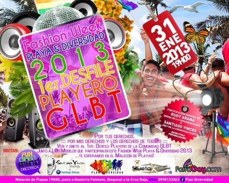 Fashion Week Playa y Diversidad 2013 - 1er desfile Playero GLBT