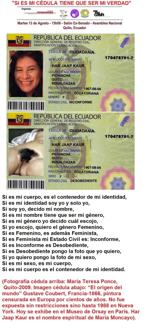 Propuesta grafica de las reformas a la Ley de Identidad de Genero en Ecuador - Silueta x - Proyecto transgenero - Construyendo Igualdad