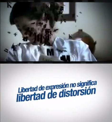 Libertad de expresión no significa libertad de distorción
