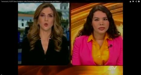 transexual y activista Diane Rodríguez en contacto Directo sobre la querella a supercom contra teleamazonas por no entregar a tiempo videos