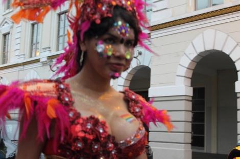 trans transexual transgénero travesti Diane Marie Rodríguez Zambrano en Orgullo y diversidad sexual 2014 - orgullo gay - orgullo glbti guayaquil 2