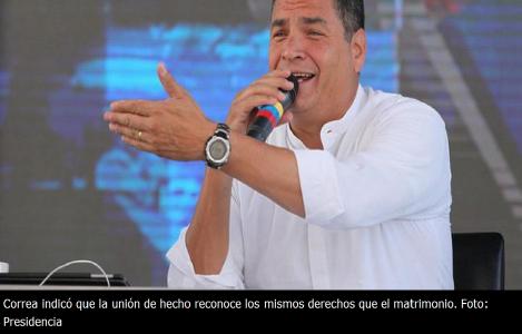 Rafael Correa Los colectivos GLBTI tienen todo el derecho constitucional de registrar su unión de hecho-SiluetaX-DianeRodriguez