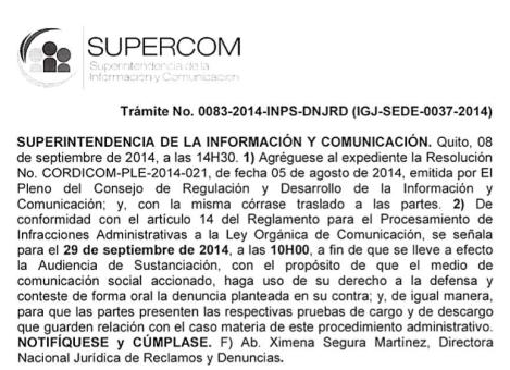 Supercom convoca a audiencia sobre La Pareja Feliz-SiluetaX (1)