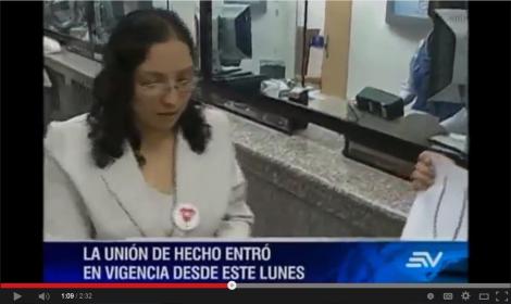 Unión de Hecho Trans-lesbica homosexual registrada en Quito