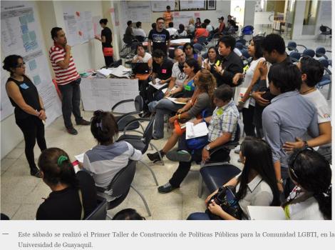 Guayaquil acoge Primer Taller de Construcción de Políticas Públicas para la Comunidad LGBTI-DianeRodriguez