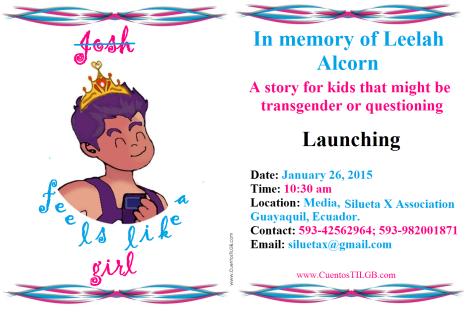 Launching Josh feels like a girl - In memory of Leelah Alcorn