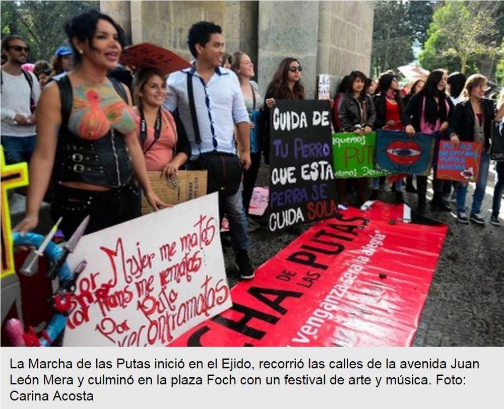 Más de 300 personas asistieron a la Marcha de las Putas -Siluetax-dianeRodriguez