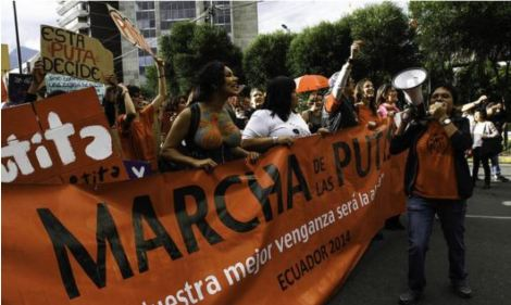 Quito vivió fiesta de tambores y consignas en contra de la violencia de género -Siluetax-DianeRodriguez