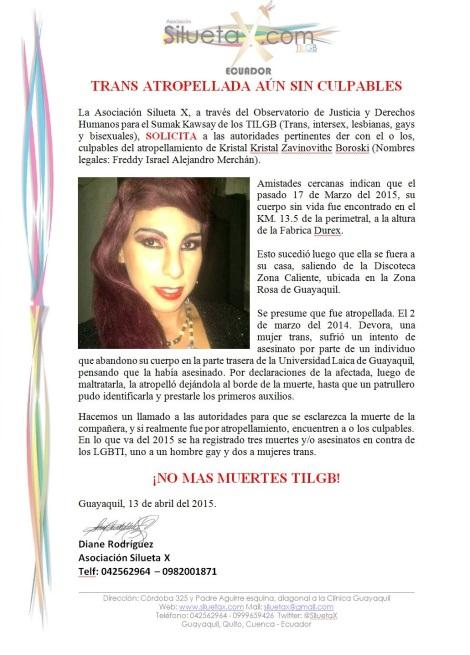 Muerte de trans por presunto atropellamiento sin culpables - Asociación Silueta X