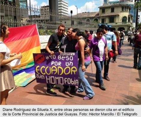 Grupos Glbti celebraron el día contra la Homo-Les-Transfobia con besos y abrazos gratis- SiluetaX-DianeRodriguez