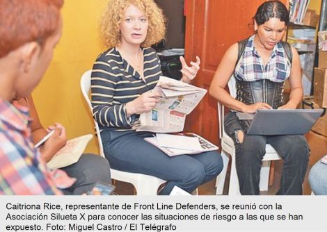 Organización irlandesa visita a defensores de derechos-Siluetax