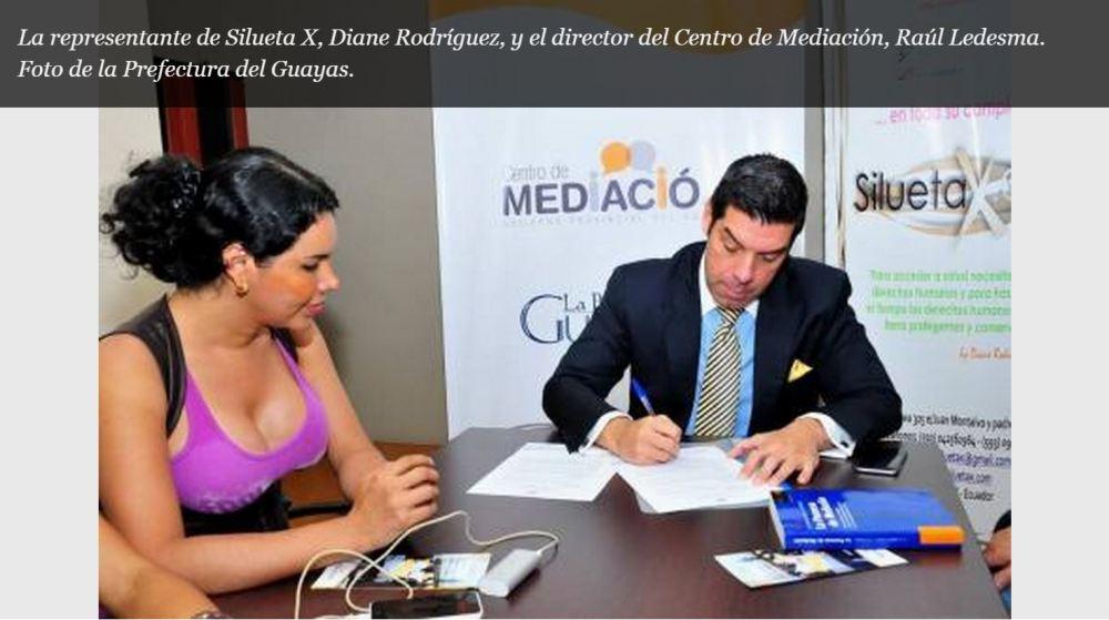 Prefectura del Guayas y Silueta X firman convenio para centro de mediación-SiluetaX-DianeRodriguez