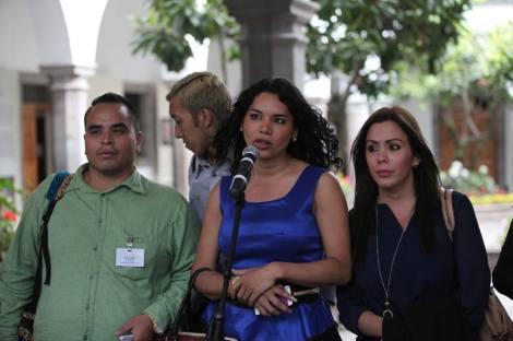 Colectivos LGBT se reúnen con el Presidente Rafael Correa en Ecuador 2015 1