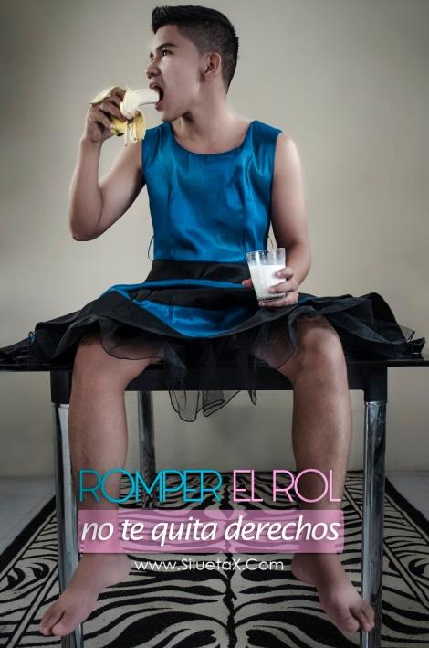 Romper el Rol de género no te quita derechos - Campaña Silueta X - Tiempo de Igualdad - Andres Torres transmasculino