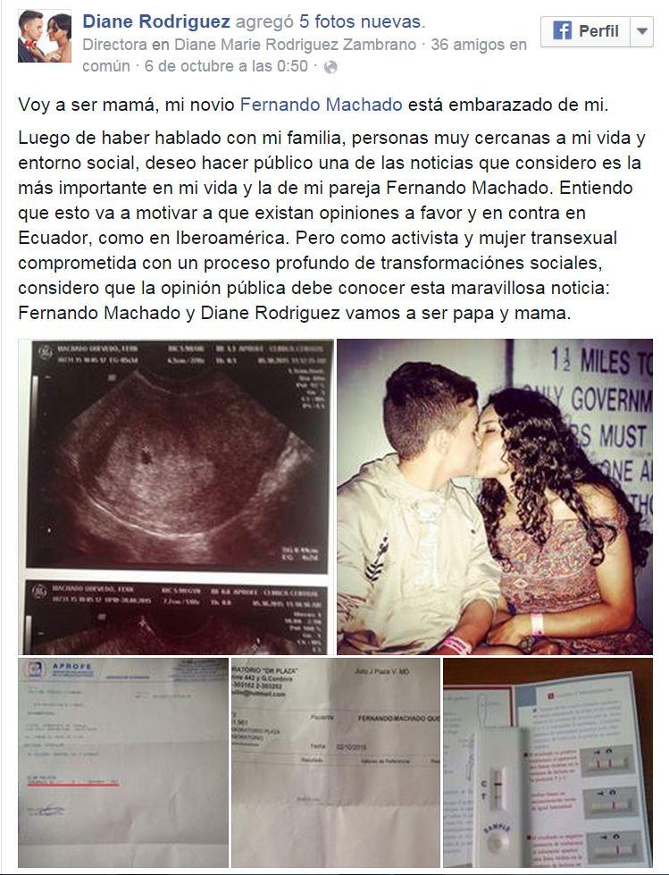 Activista trans anunció que su novio está embarazado - SiluetaX- DianeRodriguez