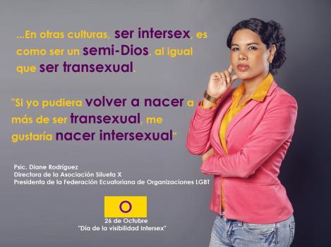 Diane Rodríguez - Dia de visibilidad intersexual - Presidenta de la Federación Ecuatoriana de organizaciones LGBT y Directora de Silueta X