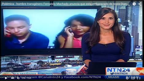 Polémica en Ecuador – hombre transgénero Fernando Machado anuncia que está embarazado de su novia Diane Rodríguez