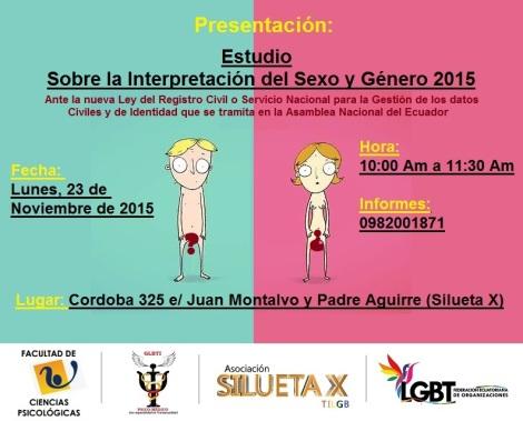 Análisis sobre la Interpretación del Sexo y género 2015 - Asociación Silueta X - Facultad Psicologia Universidad de Guayaquil