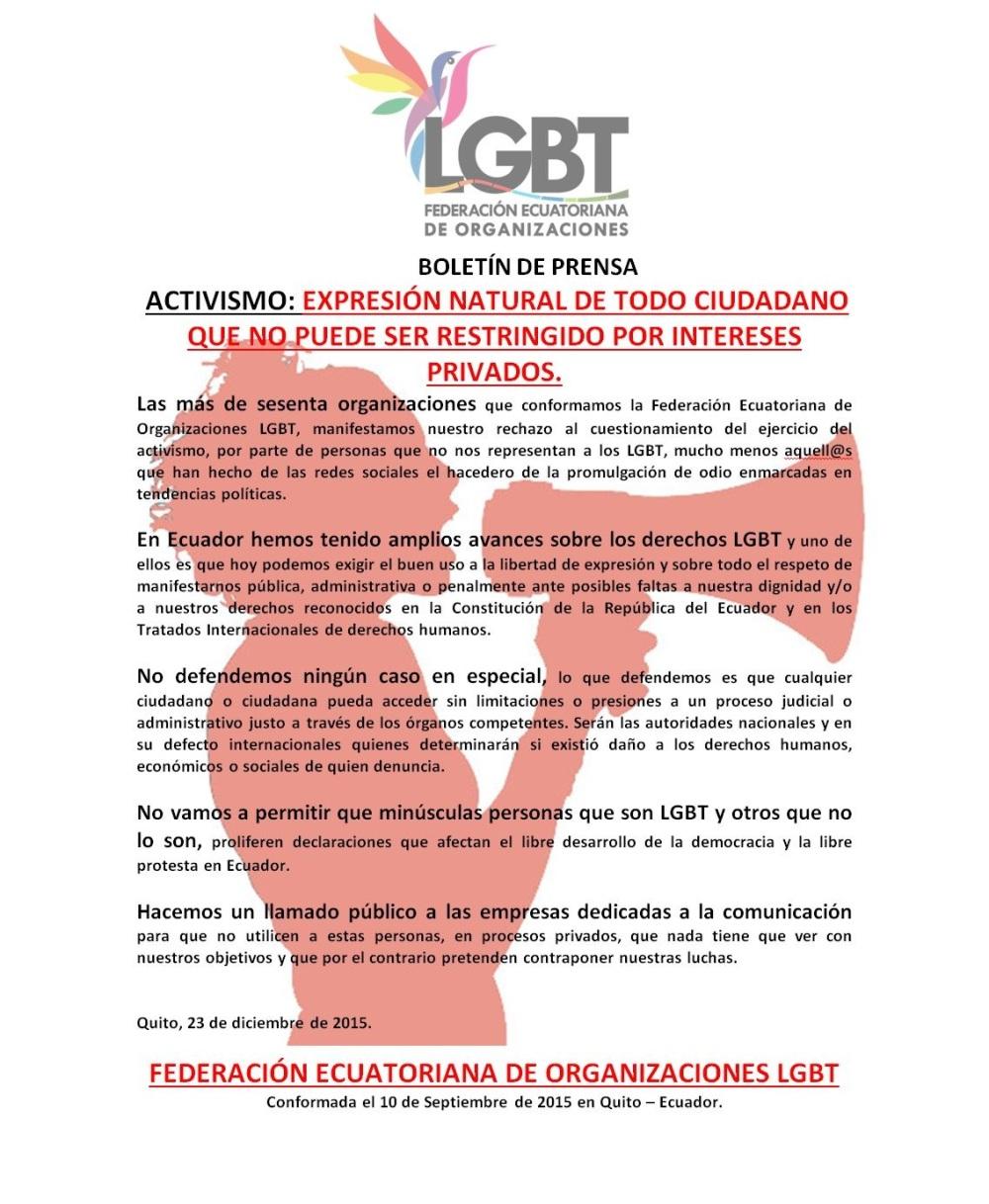 ACTIVISMO EXPRESIÓN NATURAL DE TODO CIUDADANO QUE NO PUEDE SER RESTRINGIDO POR INTERESES PRIVADOS