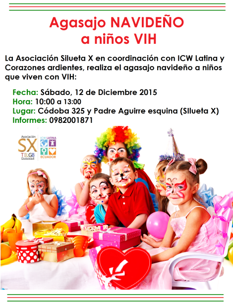 Agasajo navideño a niños VIH - Asociación Silueta X - ICW Latina - COrazones Aridentes