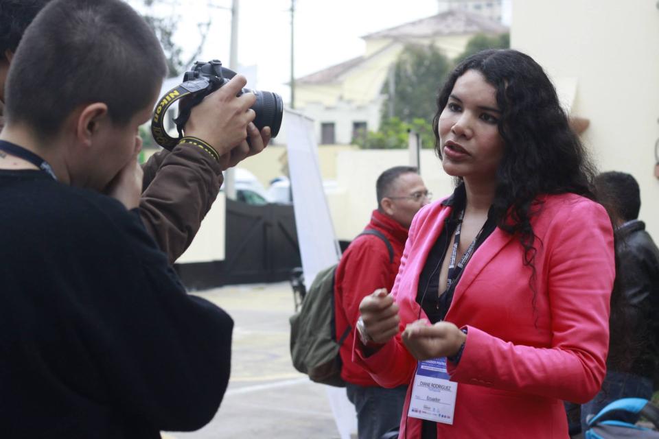 Diane Rodríguez en el 1er encuentro de lideres politicos LGBT