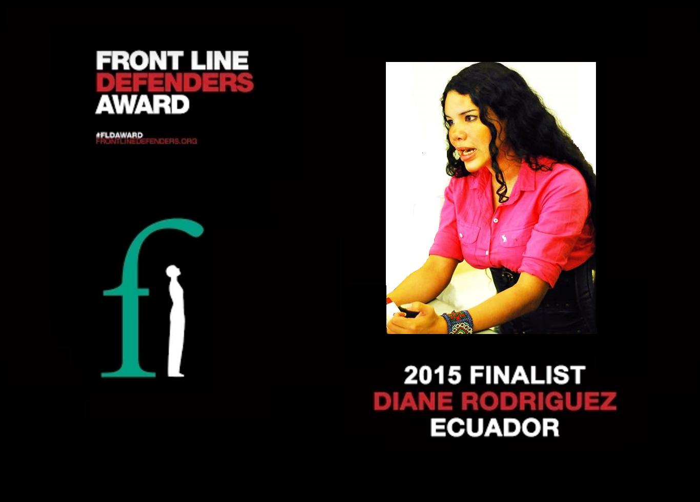 Diane Rodriguez - Front Line Defenders Award