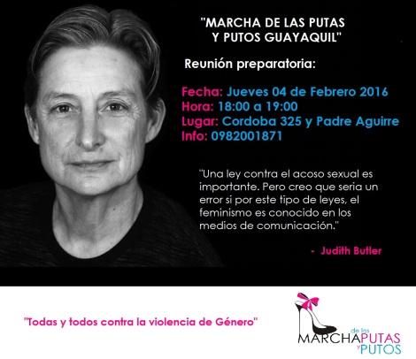 Convocatoria a reunión preparatoria Marcha de las Putas y Putos Guayaquil
