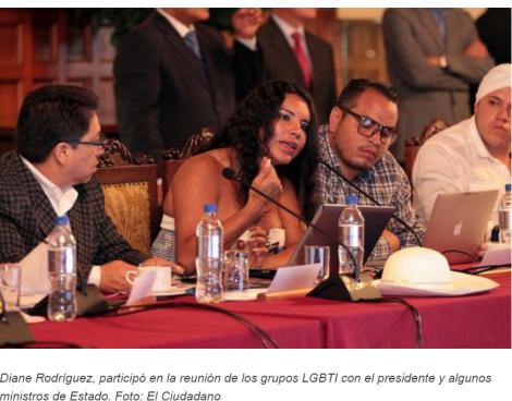 Gobierno de Ecuador avanza en la generación de políticas en beneficio de los grupos LGBTI
