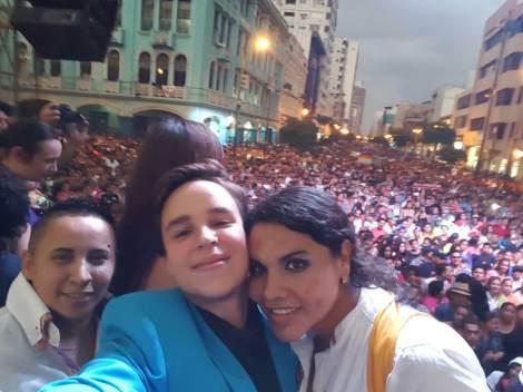 Fernando Machado y Diane Rodriguez organizadores principales del Orgullo y Diversidad Sexual 2016