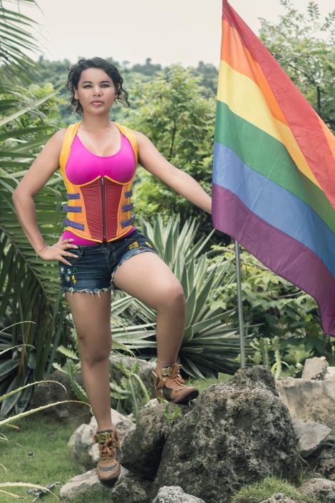 Diane Rodriguez transgenero transexual activista y defensora derechos lgbt glbti en ecuador y latino america - silueta x - federación LAC