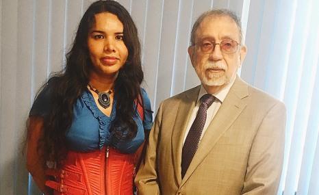 Diane Rodriguez y Alfredo ruiz - Corte Constitucional de Ecuador se reúne luego de 20 años con LGBT - Asociación Silueta X - Transmasculinos