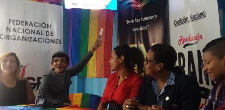 La Federación Ecuatoriana de Organizaciones LGBTI a traves de la Asociación Silueta X presentó el Estudio de percepción ciudadana de avances o retrocesos LGBTI 13