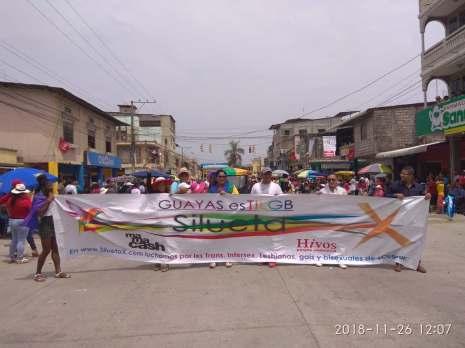 pregon en daule, asociacion silueta x, transmasculinos, revolucion trans federacion de organizaciones lgbt (2)