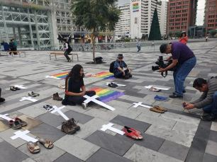 Iniciativa Zapatos diversos por asesinatos LGBT ecuador Asociación Silueta X Federación ecuatoriana (10)