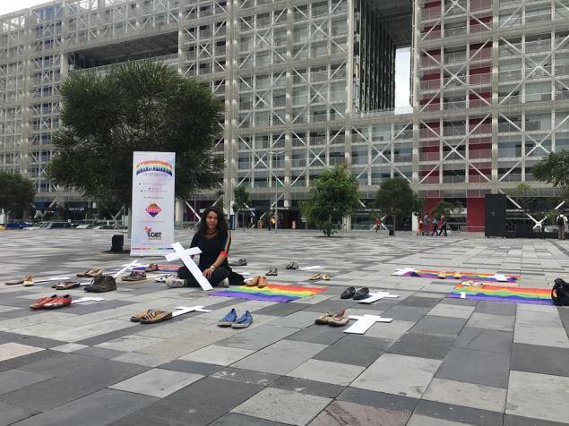 Iniciativa Zapatos diversos por asesinatos LGBT ecuador Asociación Silueta X Federación ecuatoriana (15)