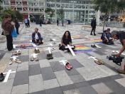 Iniciativa Zapatos diversos por asesinatos LGBT ecuador Asociación Silueta X Federación ecuatoriana (4)