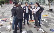 Iniciativa Zapatos diversos por asesinatos LGBT ecuador Asociación Silueta X Federación ecuatoriana (6)