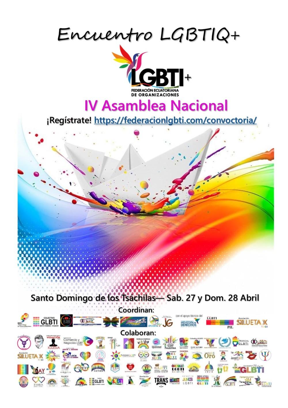 4to Encuentro Nacional de la Federación Ecuatoriana de Organizaciones LGBTI