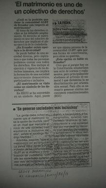 El matrimonio es uno de un colectivo de derechos - Matrimonio Homosexual en Ecuador una Lucha de más de 20 años