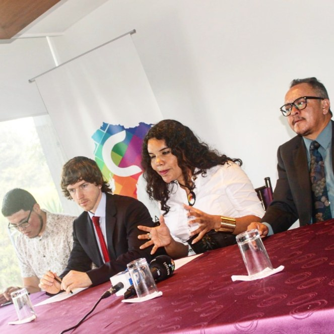 Camara LGBT del Ecuador rueda de prensa sobre lanzamiento - CEO Diane Rodriguez (10)