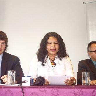 Camara LGBT del Ecuador rueda de prensa sobre lanzamiento - CEO Diane Rodriguez (2)
