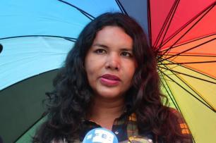 1 Activista trans Diane Marie Rodriguez Zambrano - Ecuador LGBT - transfeminista - Transgénero - MTF Bandera