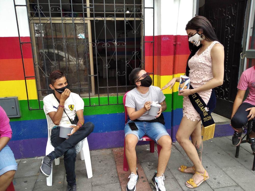 Inauguración del Primer Comedor Comunitario Trans en Guayaquil - Ecuador iniciativa de la Asociación Silueta X (12)